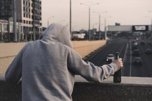 Man dealing with Alcohol addiction